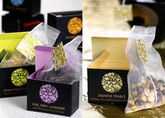 特拉维夫的Danny Goldberg设计机构为Ceremonie(茶叶品牌)设计的包装。   这个包装设计考虑进了世界性的茶道文化背景和茶文化礼仪。它用华丽的的标志设计、丰富的色彩、突出的黑色运用,反映了茶的文化源远流长,而且不同茶有着不同的味道和香味。带托盘的设计,给茶道仪式提供系列组合,给人更多茶文化因素的感染。