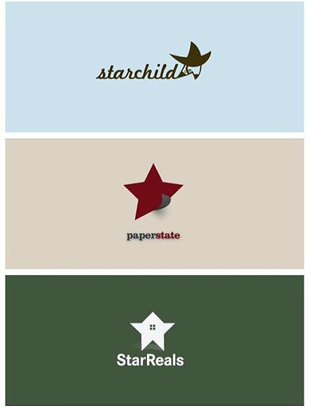 以星星为元素的logo设计